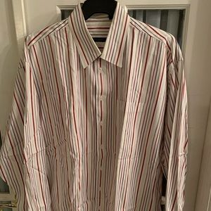 Burberry men's long sleeves shirt stripes size XXL